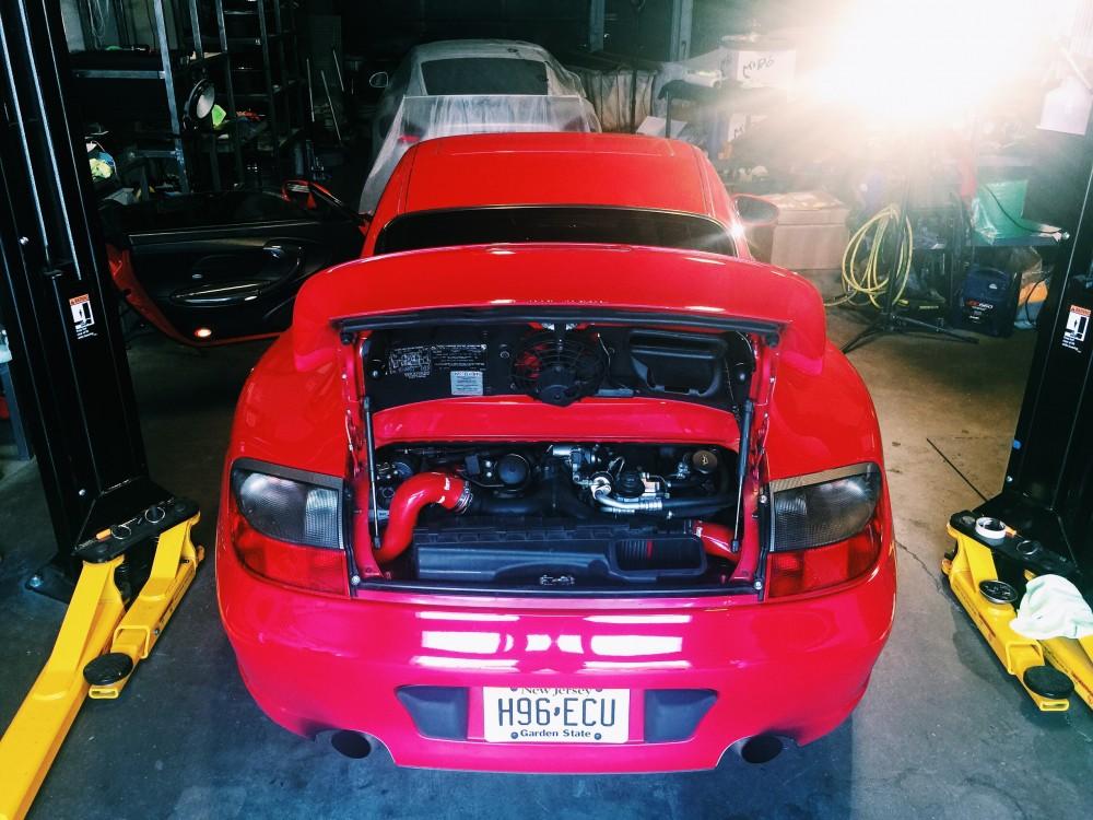Porsche shop ct connecticut Porsche service tuning detailing Butzi gear Milford 996tt Porsche tuning Porsche parts